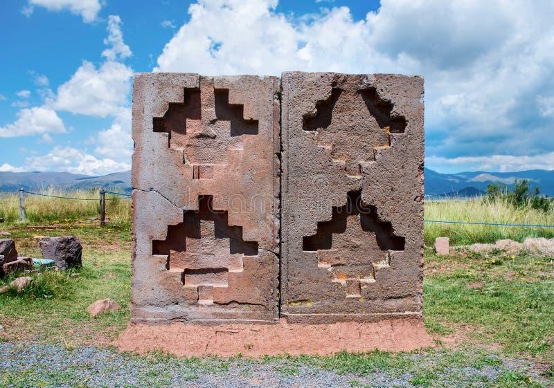 Tiwanaku Ruínas em Bolívia, foto de stock royalty free