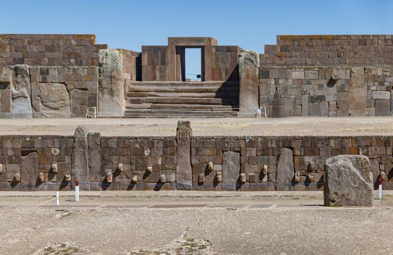 Tiwanaku ruins in Bolivia, South America. Historic Tiwanaku ruins in Bolivia, South America royalty free stock image