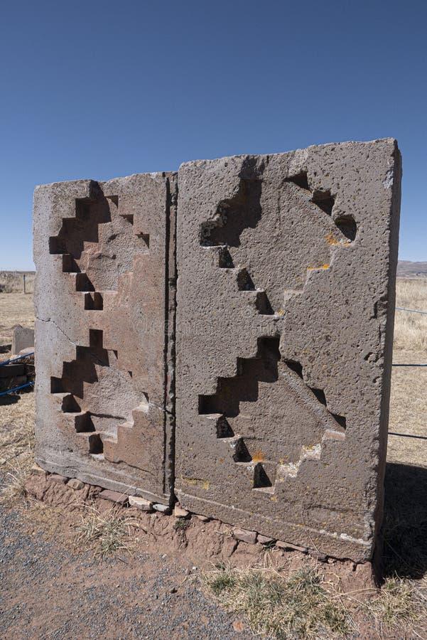 Tiwanaku ruins in Bolivia, South America. Historic Tiwanaku ruins in Bolivia, South America stock photo
