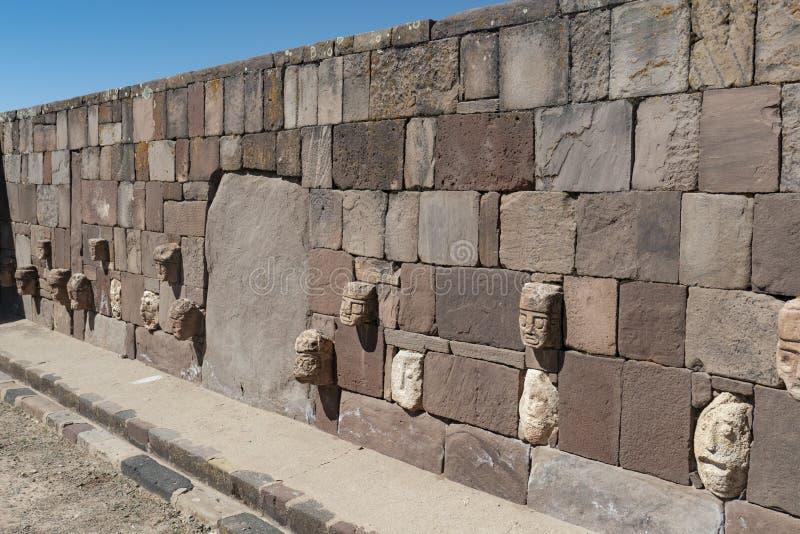 Tiwanaku ruins in Bolivia, South America. Historic Tiwanaku ruins in Bolivia, South America royalty free stock photo
