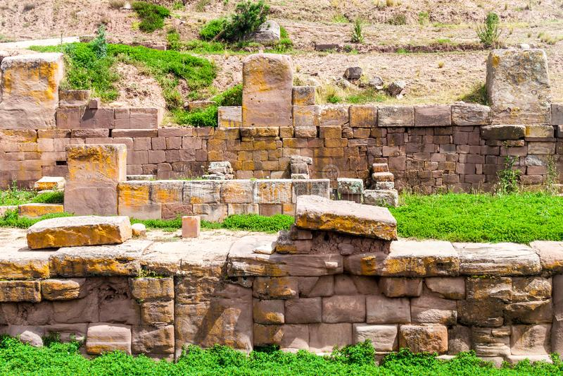 Tiwanaku ruins in Bolivia. Tiwanaku Tiahuanaco, Pre-Columbian archaeological site, Bolivia royalty free stock images