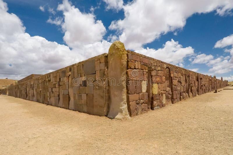 Tiwanaku Tiahuanaco, Pre-Columbian αρχαιολογική περιοχή, Βολιβία στοκ φωτογραφίες