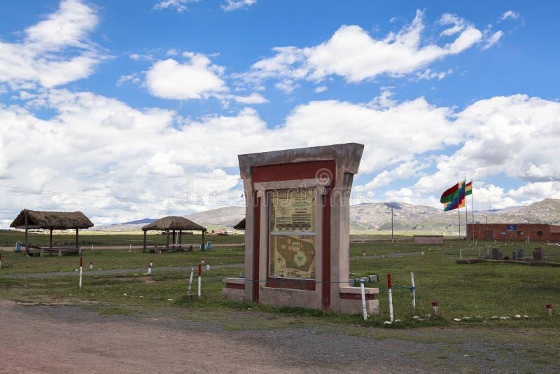 Tiwanakuerfenis in Bolivië stock foto