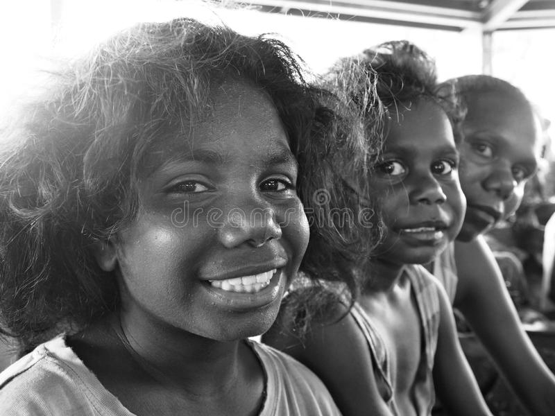 Tiwi People, Australia. Aboriginal people from Bathurst Island, Tiwi, Australia. This island is located 80 kilometers from Darwin. It´s still not touristic area