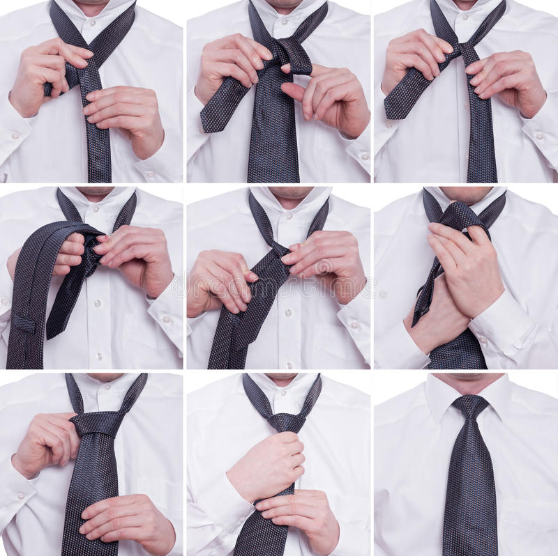 tiying a tie with a windsor knot stock photo image of merchant hands 23116660. Black Bedroom Furniture Sets. Home Design Ideas