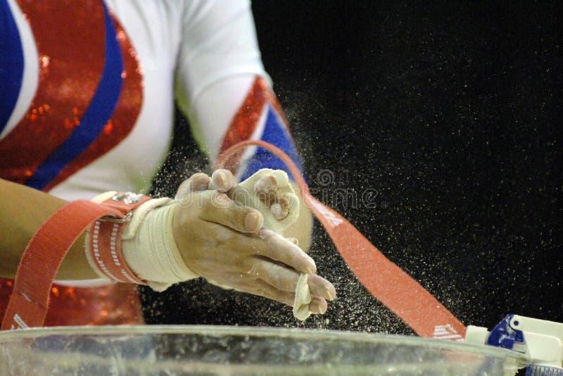 Tiza 001 del gimnasta imagen de archivo libre de regalías