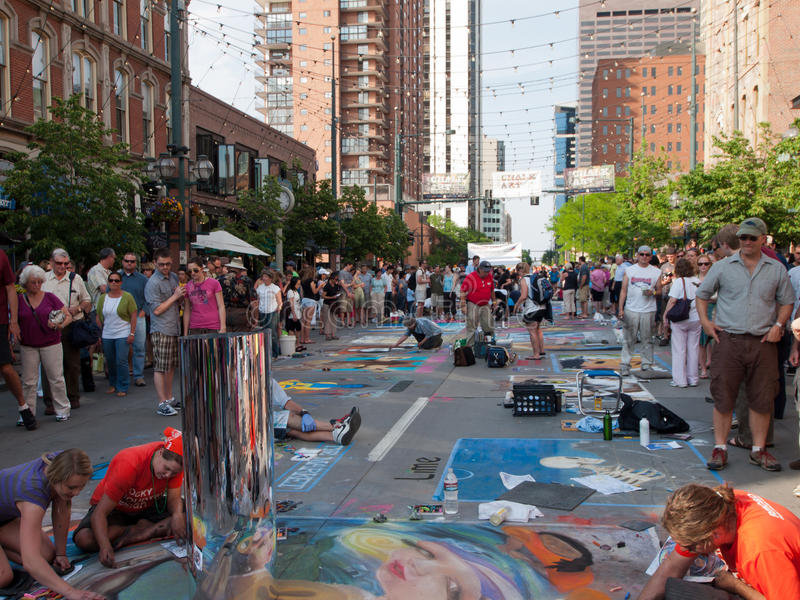 Tiza Art Festival imagen de archivo libre de regalías