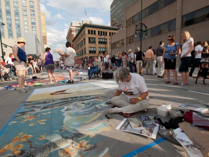 Tiza Art Festival imágenes de archivo libres de regalías