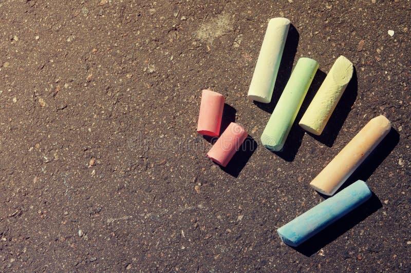 Tiza colorida fotografía de archivo