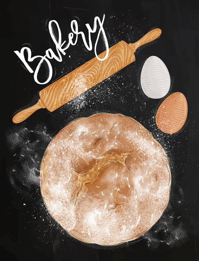 Tiza de la panadería del cartel libre illustration