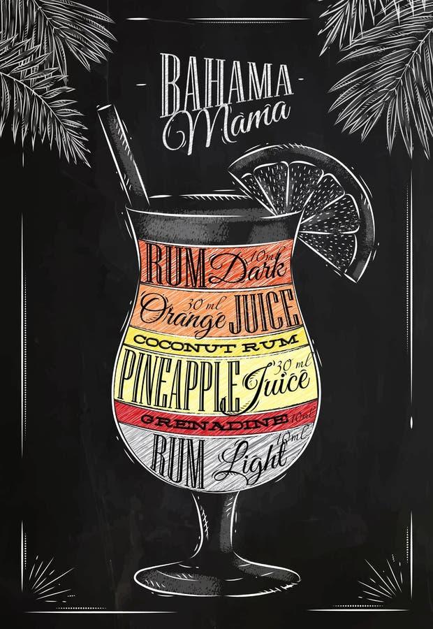 Tiza del cóctel de la mamá de Banama stock de ilustración