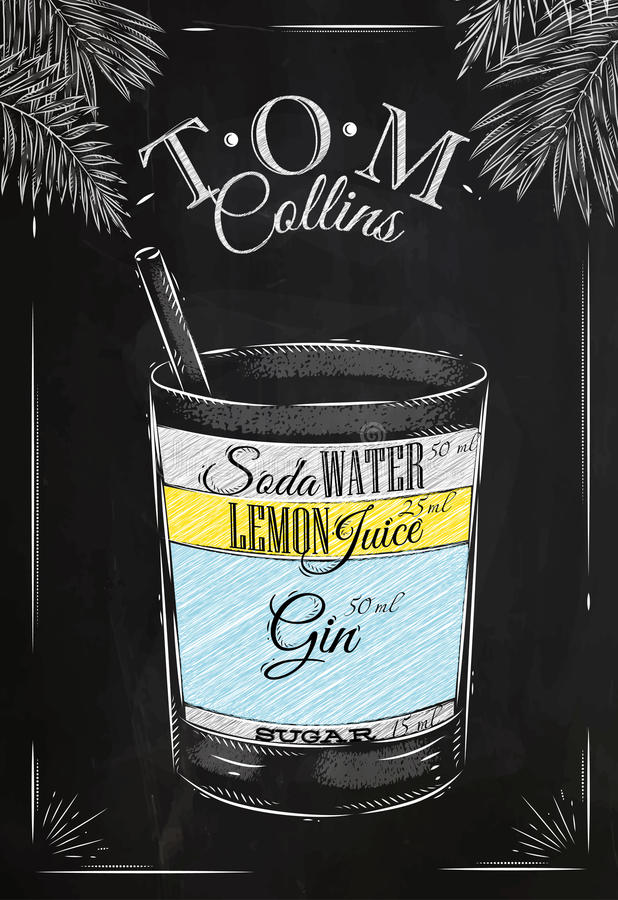 Tiza del cóctel de Tom Collins libre illustration