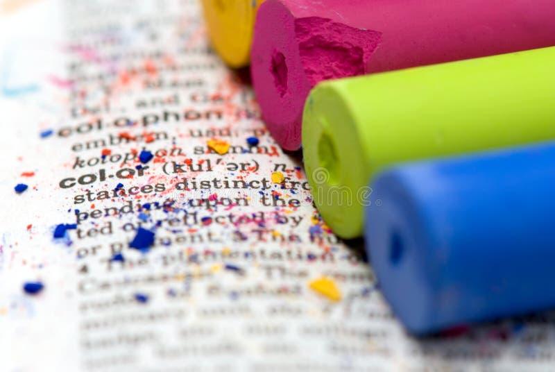 Tiza en colores pastel imagen de archivo