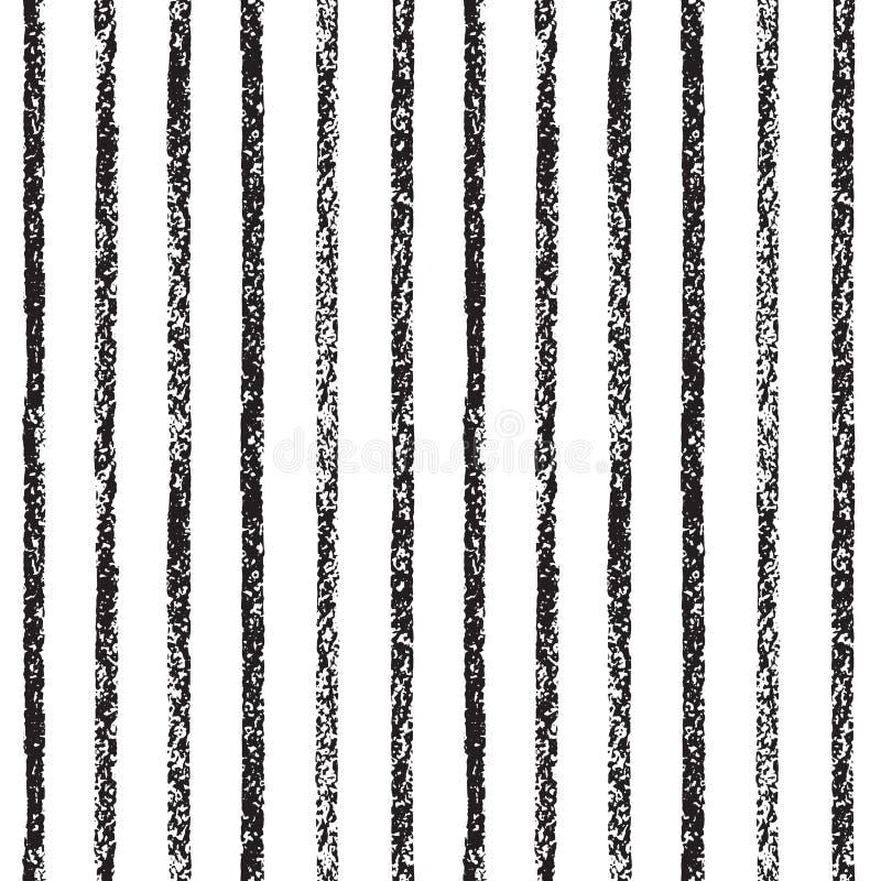Tiza texturizada, fondo inconsútil de las rayas exhaustas en colores pastel stock de ilustración