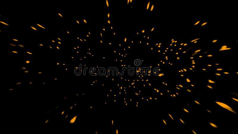 Tizzoni gialli perfetti delle particelle su fondo Sovrapposizioni di struttura Elemento di disegno immagine stock