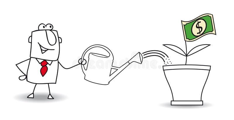 Tjäna pengar vektor illustrationer