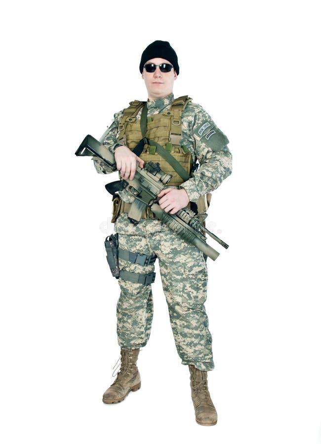 tjäna som soldat oss royaltyfri bild
