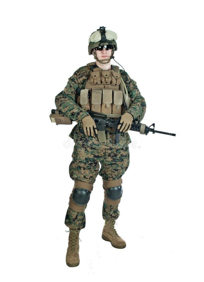 tjäna som soldat oss royaltyfria bilder