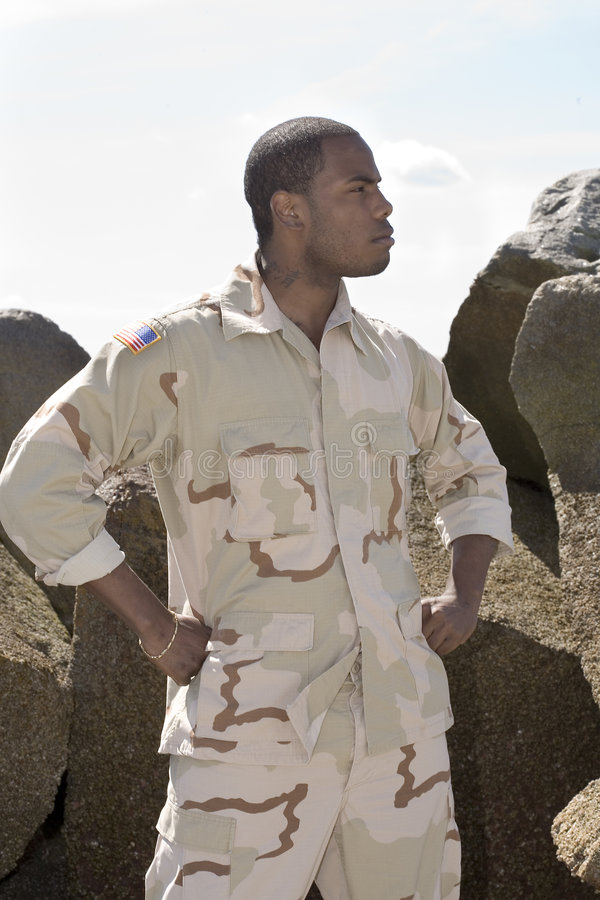 tjäna som soldat oss arkivfoto