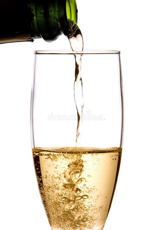 tjänad som champagnekopp royaltyfri foto