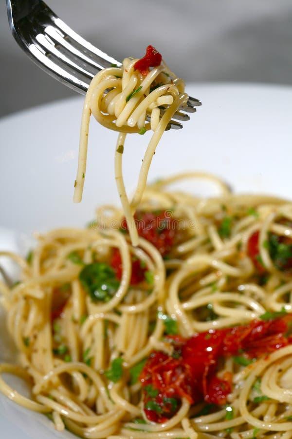 tjänad som pasta royaltyfria foton