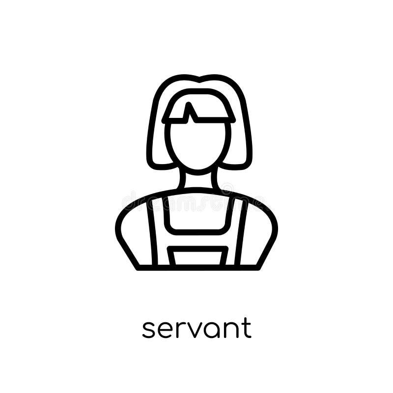 Tjänaresymbol från hotellsamling stock illustrationer