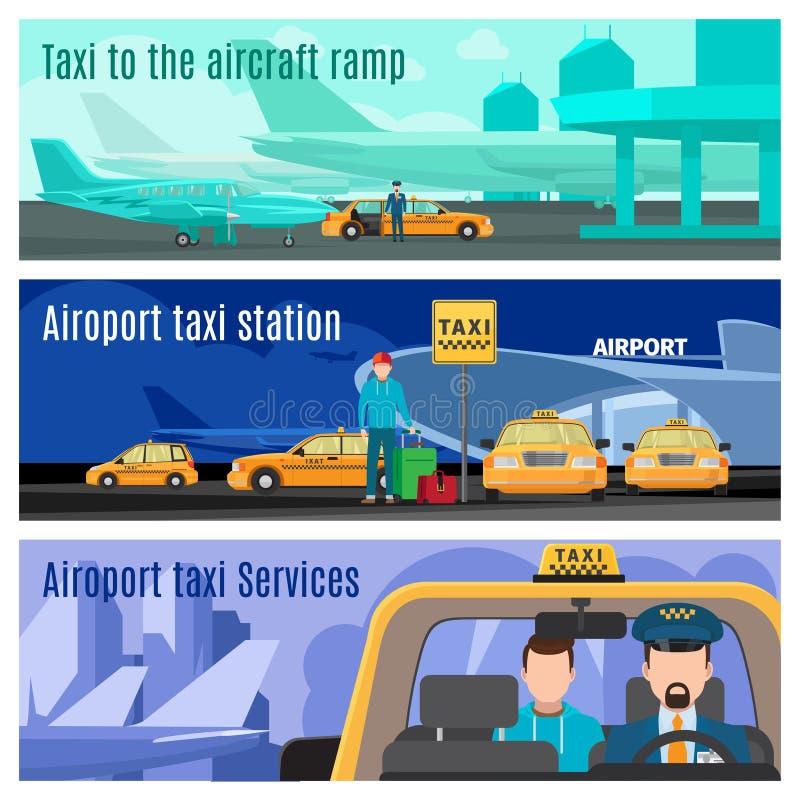 Tjänste- baner för taxi royaltyfri illustrationer