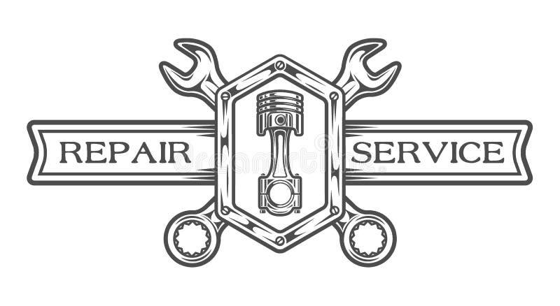 Tjänste- emblem för automatisk, tecken vektor illustrationer