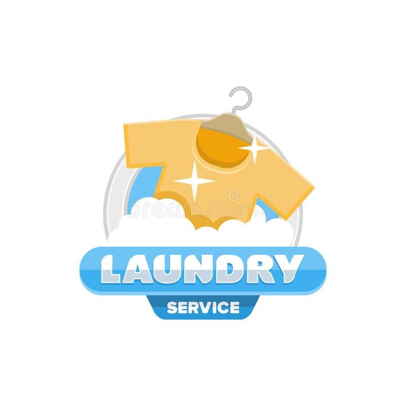 Tjänste- emblem för tvätterilogoemblem vektor illustrationer