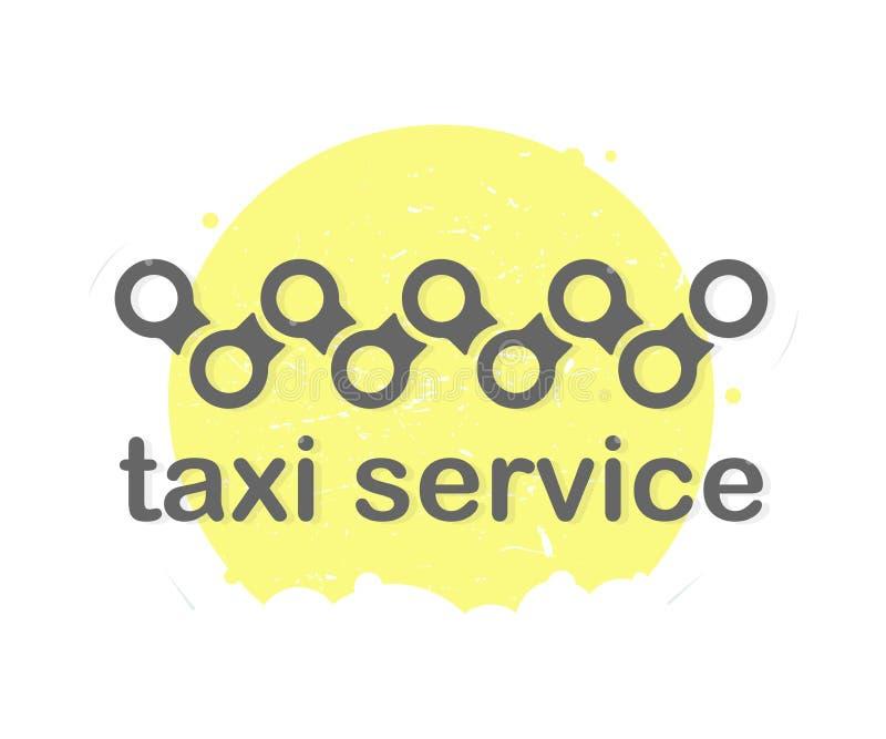 Tjänste- logodesign för taxi royaltyfri illustrationer