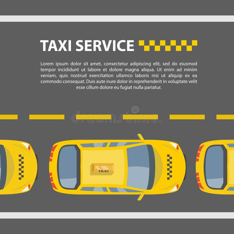 Tjänste- modell för taxi vektor illustrationer