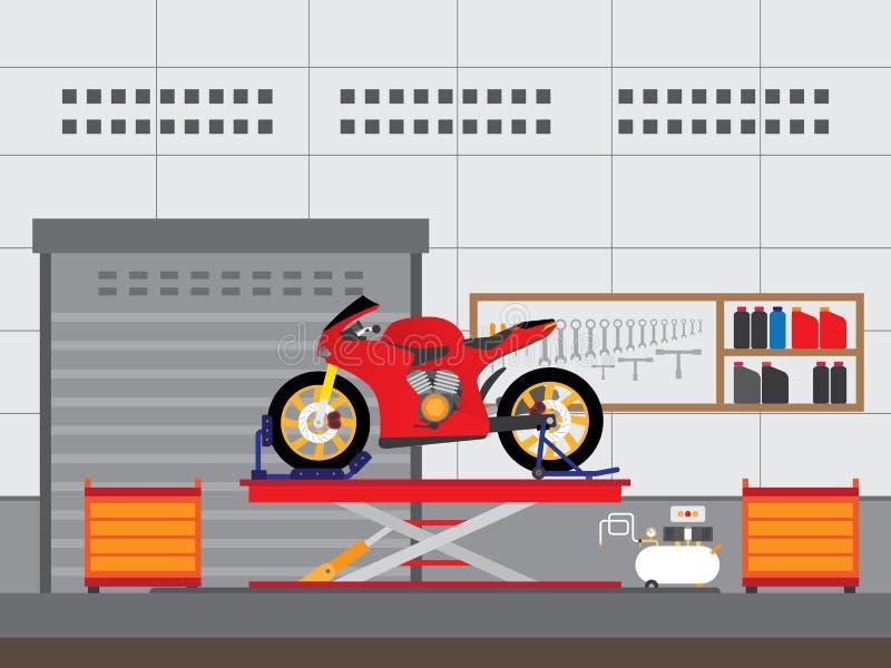 Tjänste- motorcykel stock illustrationer