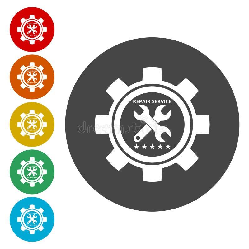 Tjänste- symbol för bil Tecken för automatisk mekaniker royaltyfri illustrationer