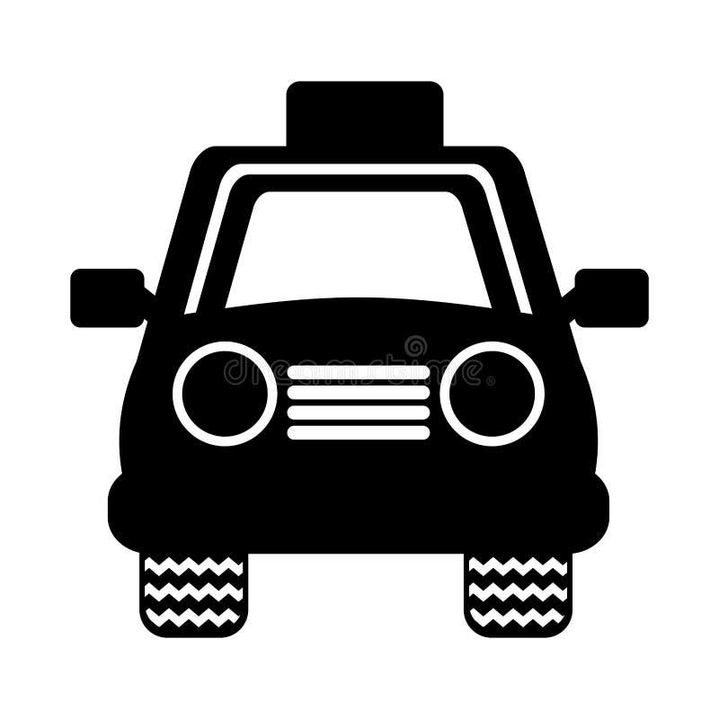 Tjänste- symbol för taxi royaltyfri illustrationer
