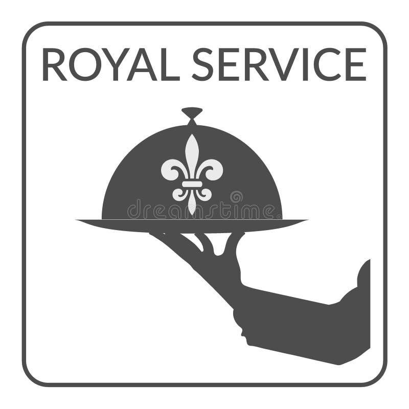 Tjänste- tecken för kunglig person vektor illustrationer
