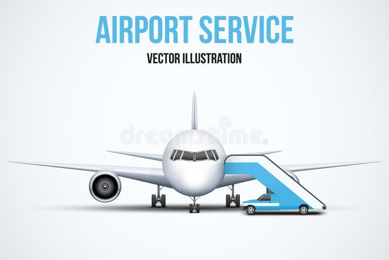 Tjänste- vektorillustration för flygplats vektor illustrationer