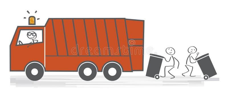 Tjänste- vektorillustration för renhållning stock illustrationer