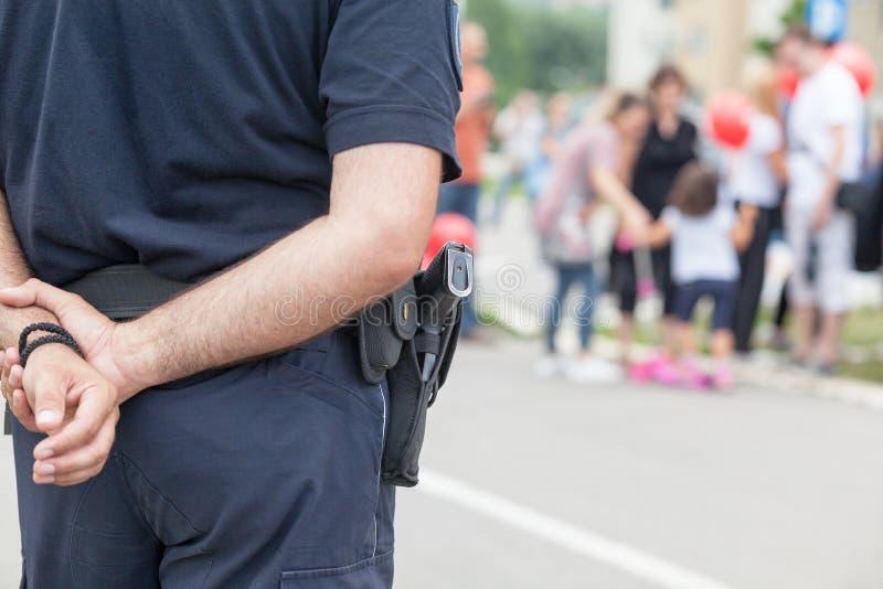 Tjänstgörande polis arkivfoton
