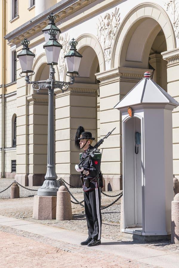 Tjänstgörande vaktpost royaltyfria bilder
