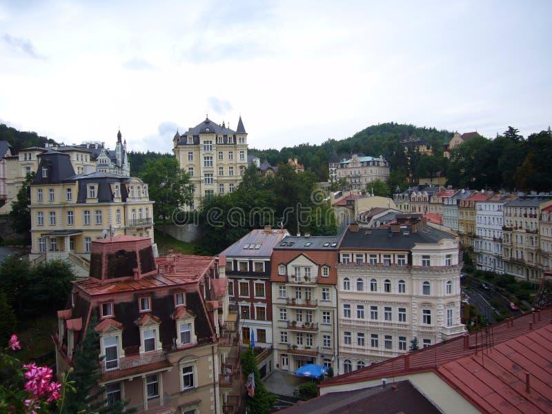 Tjeckien Karlovy varierar fotografering för bildbyråer
