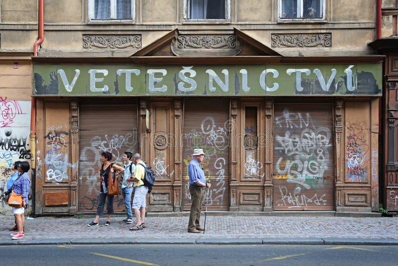 Tjeckien: Prague Turism Redaktionell Foto