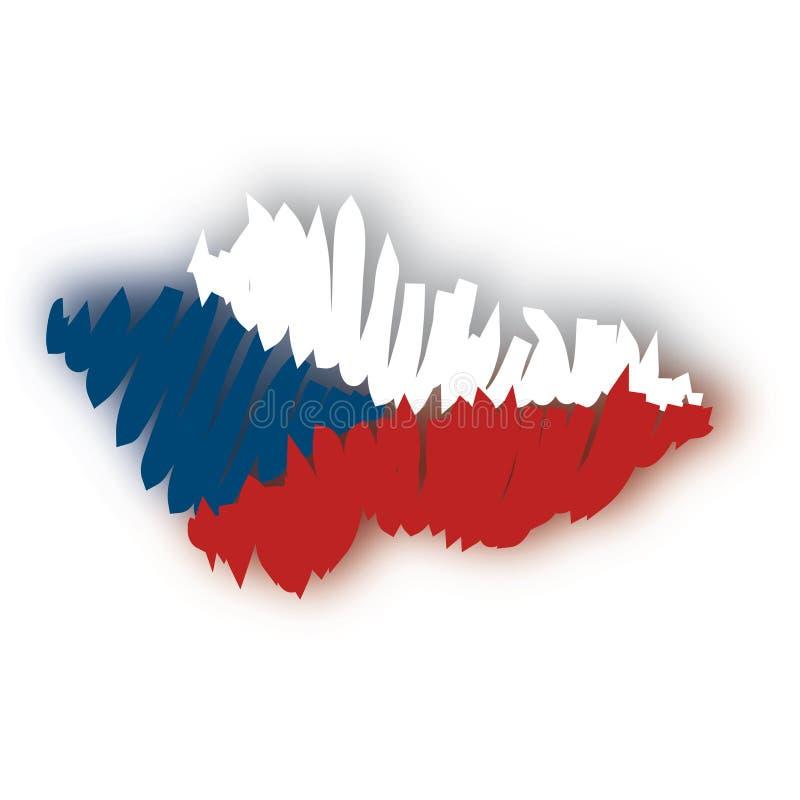 tjeckisk översiktsrepublikvektor stock illustrationer