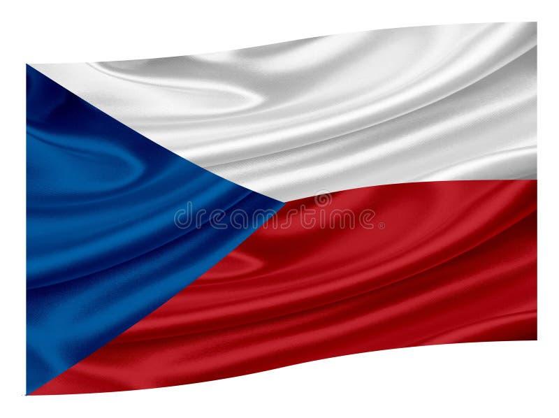 tjeckisk flaggarepublik vektor illustrationer
