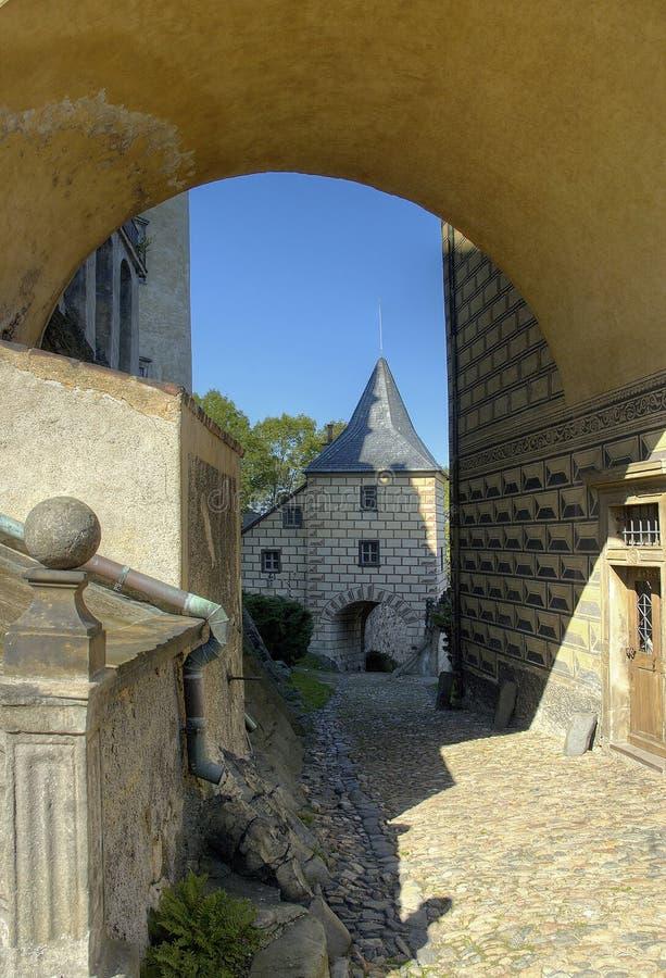 tjeckisk frydlant norr republik för slott royaltyfri fotografi