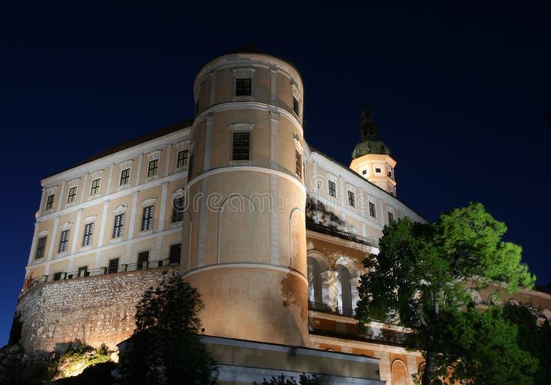 tjeckisk mikulovrepublik för slott fotografering för bildbyråer