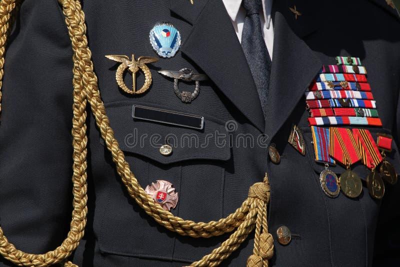 Tjeckisk militär garnering på likformign royaltyfri fotografi