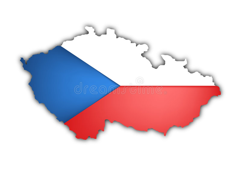 tjeckisk republik vektor illustrationer