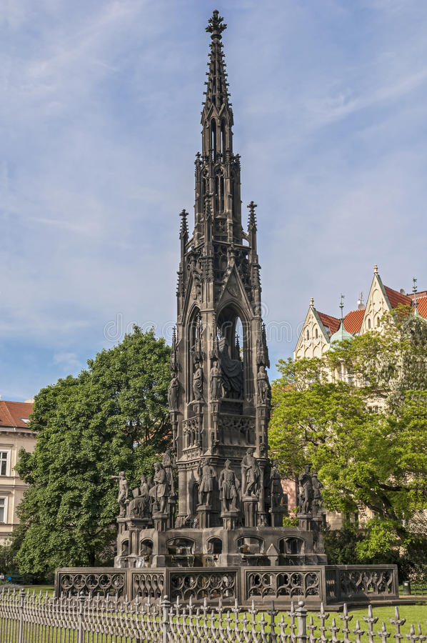 Tjeckisk republik, Prague Monument till kejsaren Franz I arkivfoton