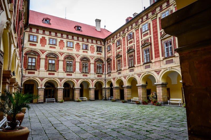 Tjeckisk slott Libochovice royaltyfri bild