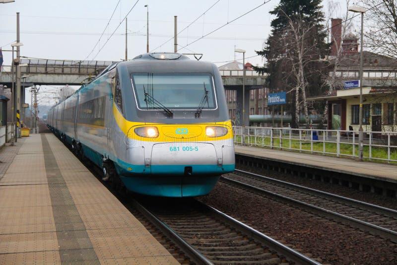 Tjeckiska järnvägar arkivfoto